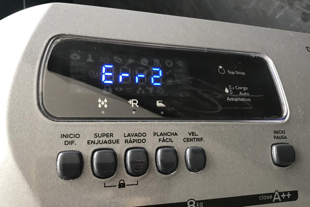 Posibles errores en tu lavarropas drean