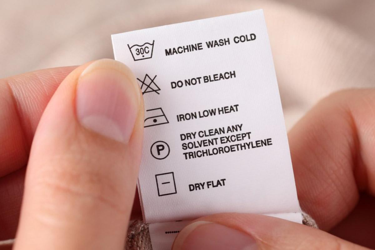 Qué significan los íconos en la etiqueta de la ropa